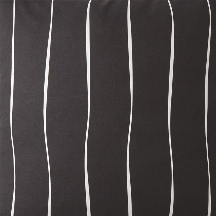 Toile Back In Black Fabric Per Yard - Black & White Stripe Thumbnail