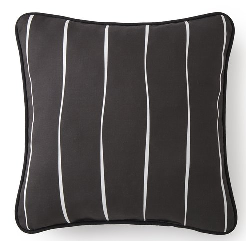 "Toile Back In Black Square Pillow 20""x20"" - Striped Thumbnail"