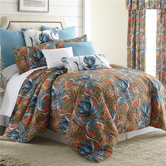 Tropical Bloom Comforter Set Super Queen Size Thumbnail