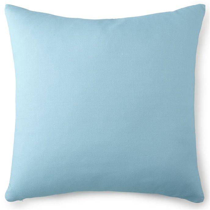 Tropical Bloom Euro Sham - Aqua Blue Thumbnail