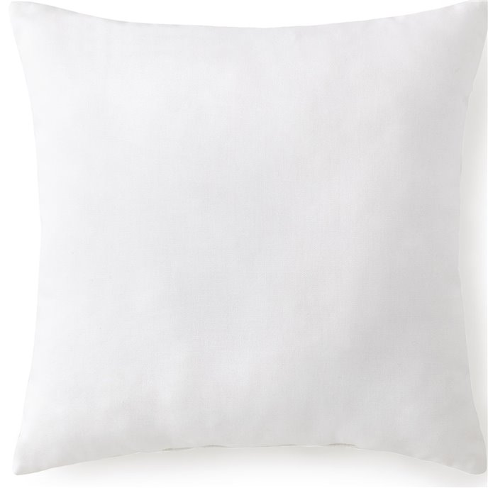 "Tropical Bloom Square Cushion 18""x18"" - Solid White Thumbnail"