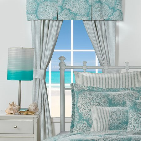 Tybee Island Stripe Drapes with Tiebacks Thumbnail