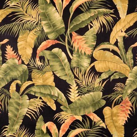 La Selva Black Print Fabric (Non-returnable) Thumbnail