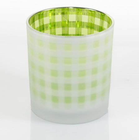 Yankee Candle Lime Gingham Votive Holder Thumbnail