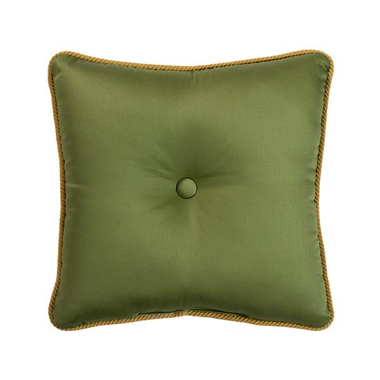 Cayman Square Green Pillow Thumbnail