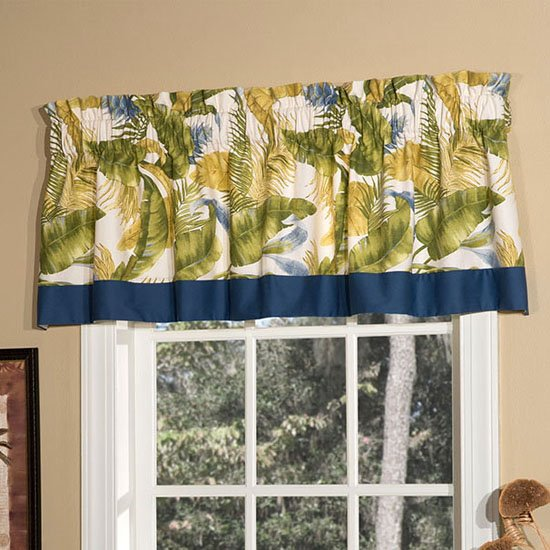 Cayman Tailored Valance with Band Thumbnail