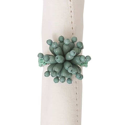 Bubble Bead Sea Glass Napkin Ring Thumbnail