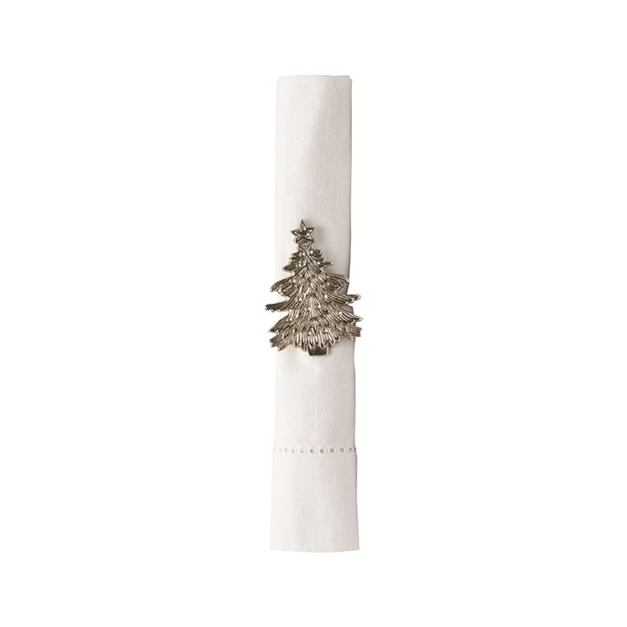 Silver Christmas Tree Napkin Ring Thumbnail