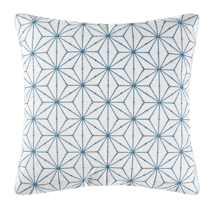 Adrienne Embroidered Geometric Pillow Thumbnail