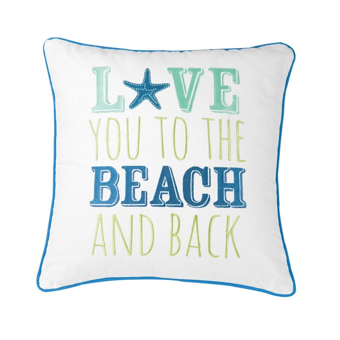 Aquarius Love You to the Beach Pillow Thumbnail