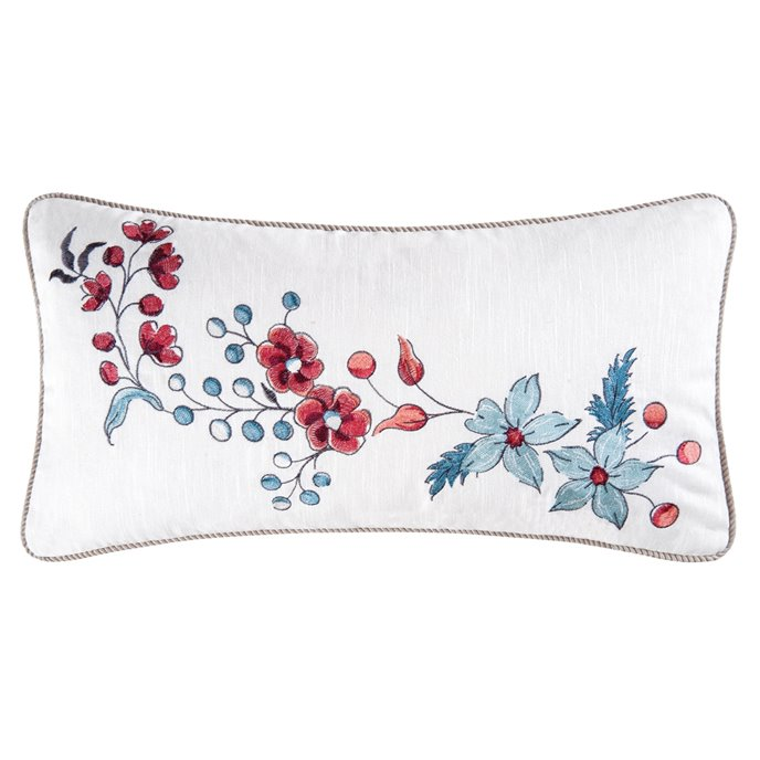 Adrienne Embroidered Flower Pillow Thumbnail