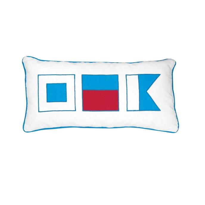 Windward Port Applique Flags Pillow Thumbnail