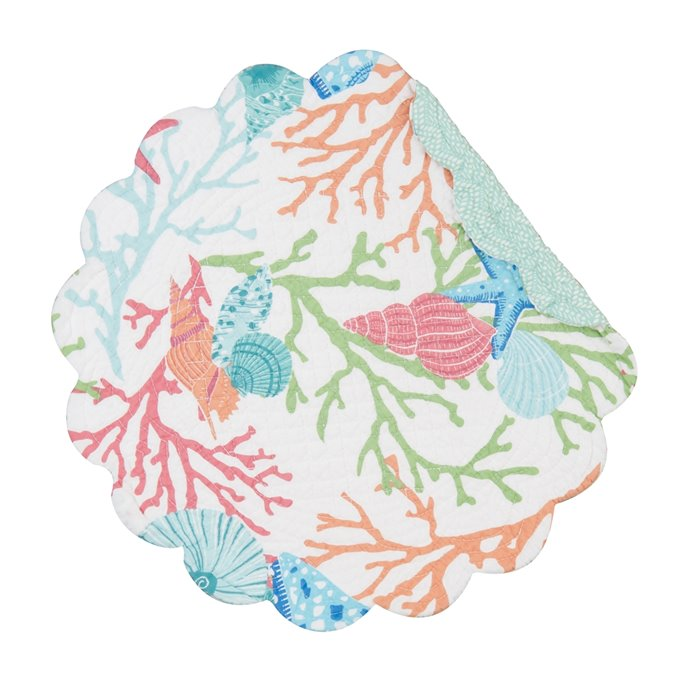 Caribbean Splash Round Quilted Placemat Thumbnail
