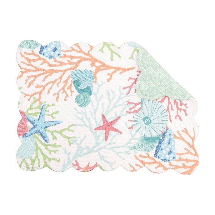 Caribbean Splash Rectangular Quilted Placemat Thumbnail