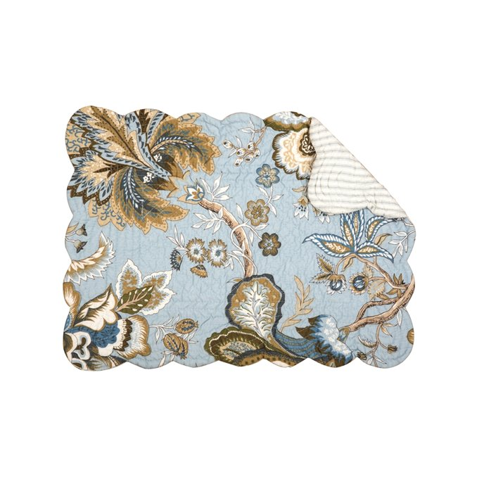 Bethany Blue Rectangular Quilted Placemat Thumbnail
