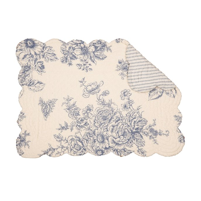Nelly Blue Rectangular Quilted Placemat Thumbnail