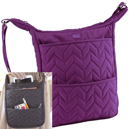 Lug Compass Shoulder Pouch - Plum Purple Thumbnail