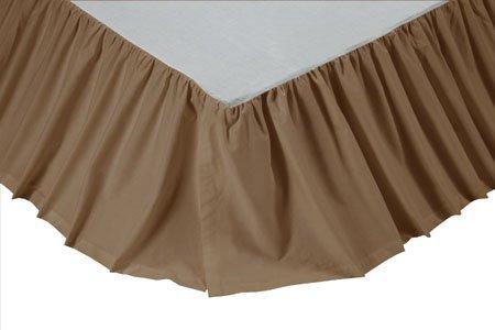 Solid Khaki Queen Bed Skirt Thumbnail