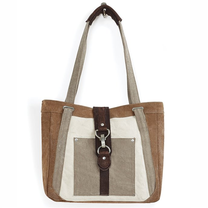 Mona B. Nora Dijon Canvas Shoulder Bag Thumbnail