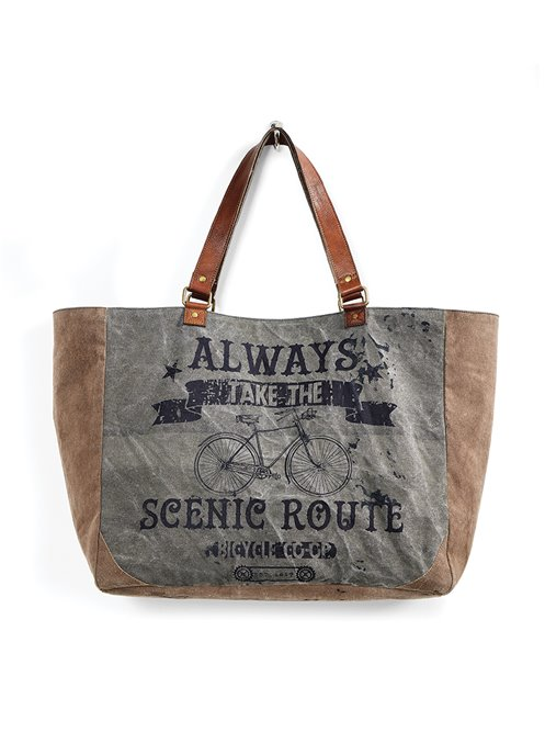 Mona B. Scenic Route Canvas Weekender Bag Thumbnail