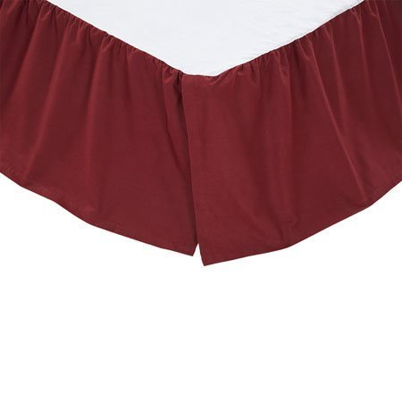 Solid Burgundy Twin Bed Skirt Thumbnail
