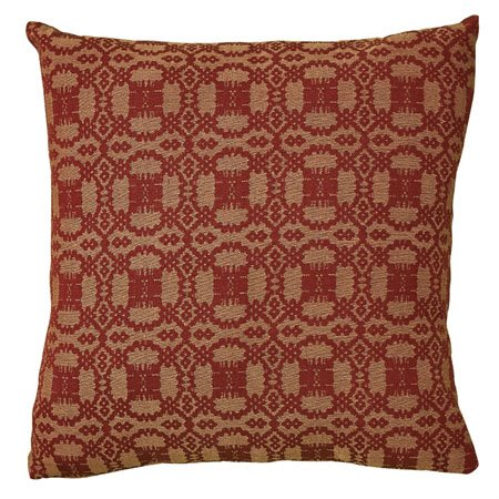 "Campbell Wine 18"" Throw Pillow Thumbnail"