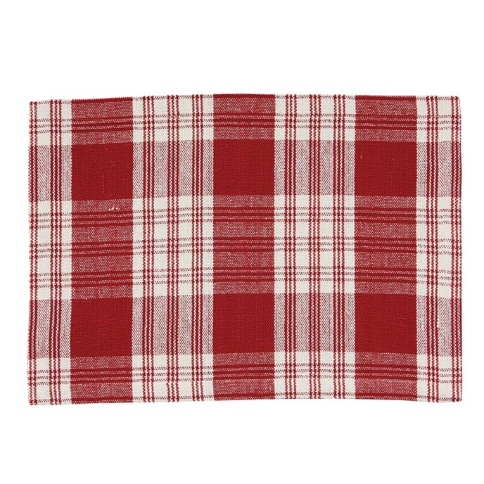 Dylan Red Plaid Woven Placemat Thumbnail