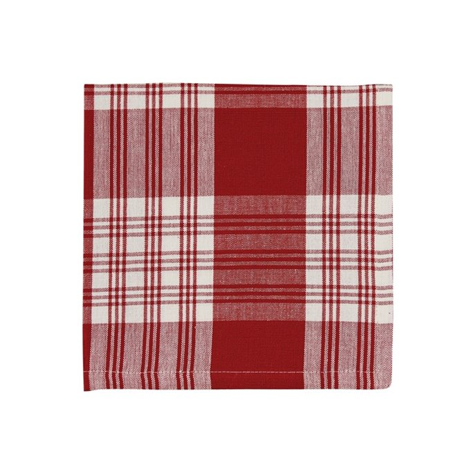 Dylan Red Plaid Napkin Thumbnail