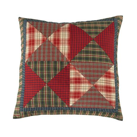 "Cabin 16"" Patchwork Pillow with insert Thumbnail"
