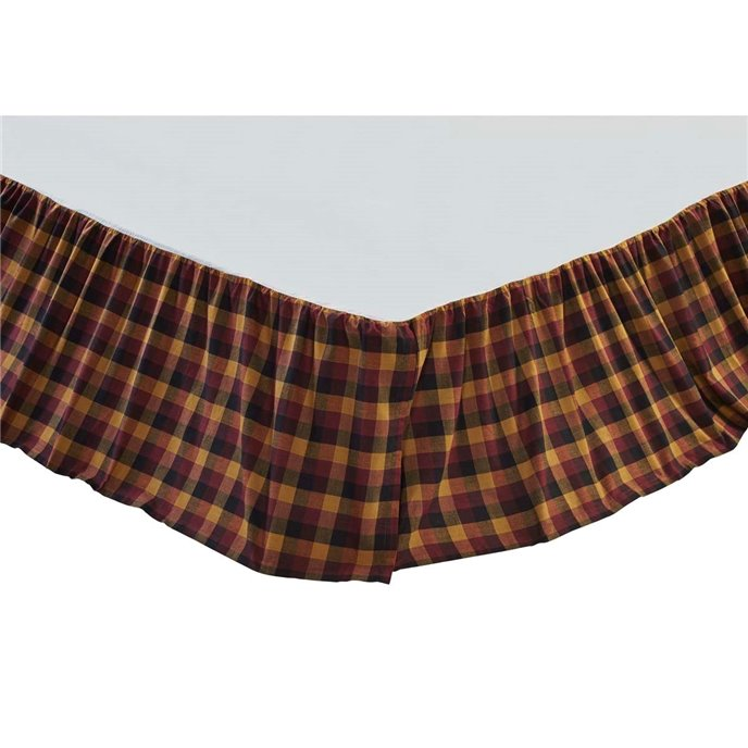 Primitive Check Queen Bed Skirt Thumbnail