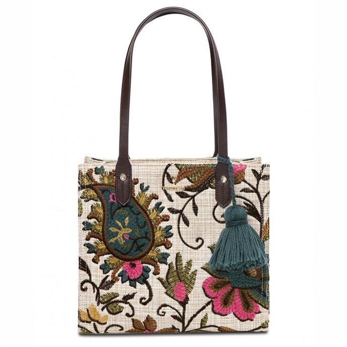 Spartina 449 Eliza Floral Embroidered Box Tote Thumbnail