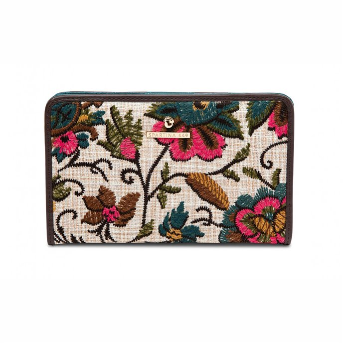 Spartina 449 Eliza Floral Embroidered Snap Wallet Thumbnail