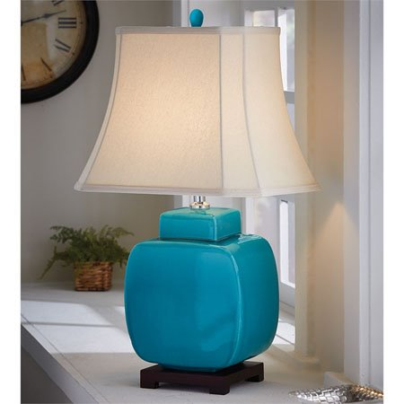 Ceramic Jar Lamp - Turquoise Thumbnail