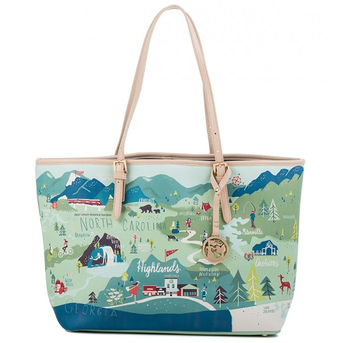 Spartina 449 Greetings from the Blue Ridge Mountains Tote Thumbnail