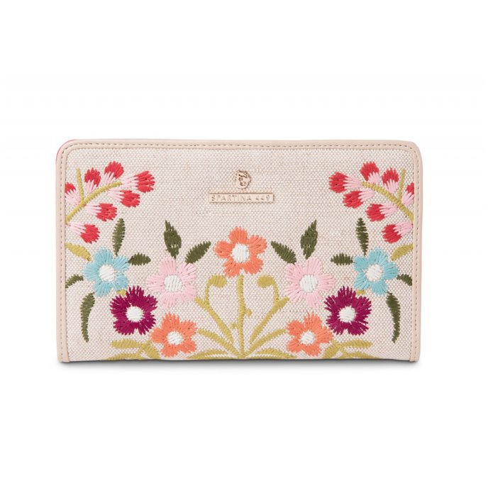 Spartina 449 Cordelia Blossom Embroidered Snap Wallet Thumbnail