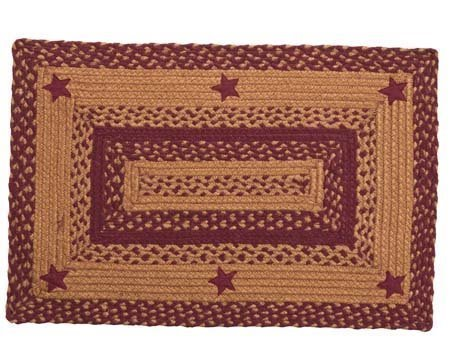 Star Wine 4 ft X 6 ft Rug Rectangular Thumbnail