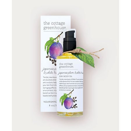 The Cottage Greenhouse Japanese Plum & White Tea Dry Body Oil Thumbnail