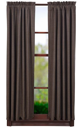 "Kettle Grove 63"" Plaid Scalloped Short Panels Thumbnail"