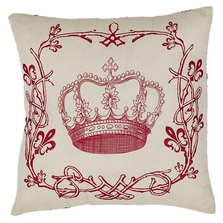 Elysee Stenciled Crown Pillow Thumbnail