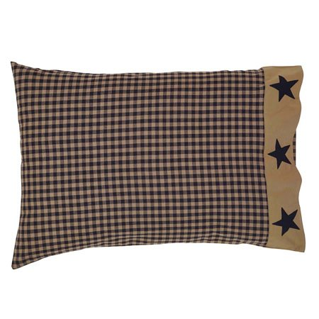 Teton Star Pillow Case Applique Star Border Set of 2 Thumbnail