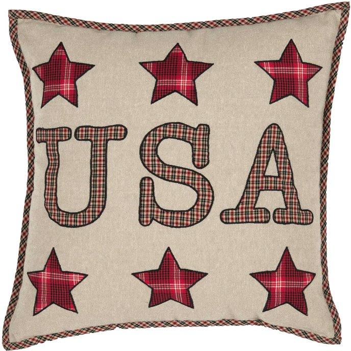 Liberty Stars USA Applique Pillow Thumbnail