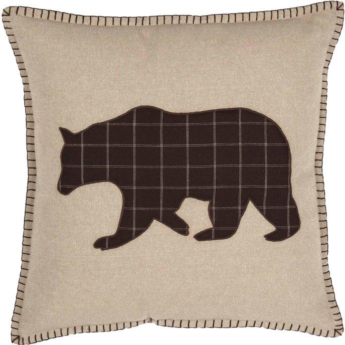 Wyatt Bear Applique Pillow Thumbnail