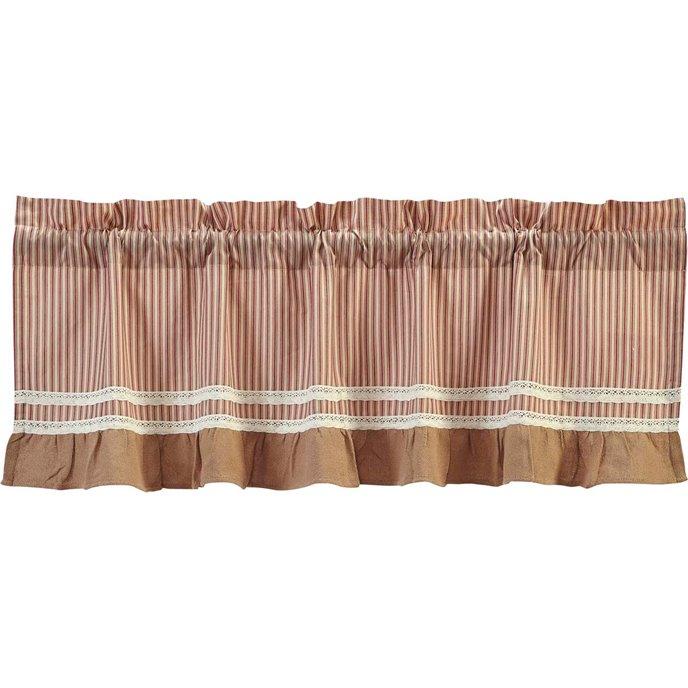 Kendra Stripe Red Valance (16L x 60W) Thumbnail