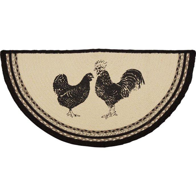 Sawyer Mill Poultry Jute Rug Half Circle (16.5x33) Thumbnail
