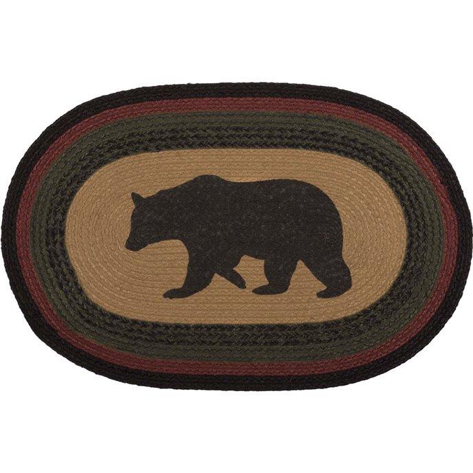 Wyatt Bear Jute Rug Oval (20x30) Thumbnail