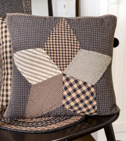 """Farmhouse Star 16"""" Quilted Pillow Thumbnail"""