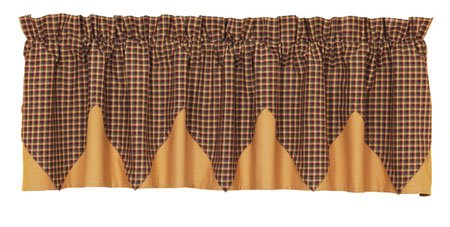 Patriotic Patch Plaid Layered Valance Thumbnail