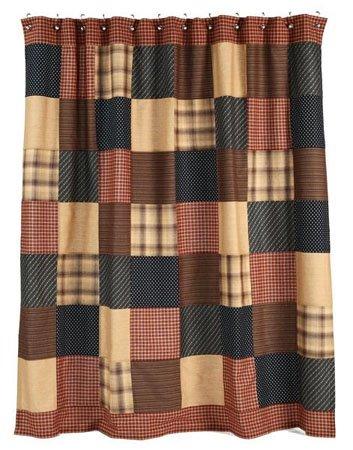 Patriotic Patch Shower Curtain Thumbnail