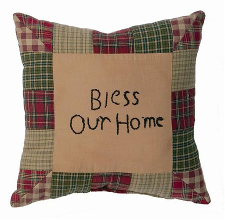 Tea Cabin Bless Our Home Pillow Thumbnail