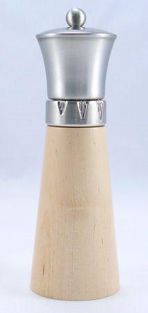 Signature Natural Wood/Brushed Metal Top Pepper Mill (9 in.) Thumbnail